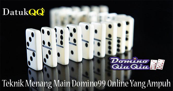 Teknik Menang Main Domino99 Online Yang Ampuh